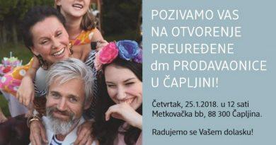 U četvrtak otvaranje preuređene dm trgovine u Čapljini